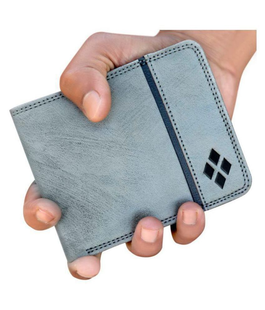 LUXIQE Faux Leather Gray Casual Regular Wallet
