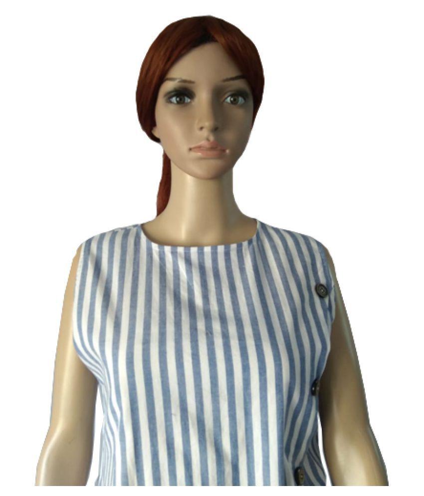 Ox Nrich Pvt Ltd Cotton Multi Color Regular Dress