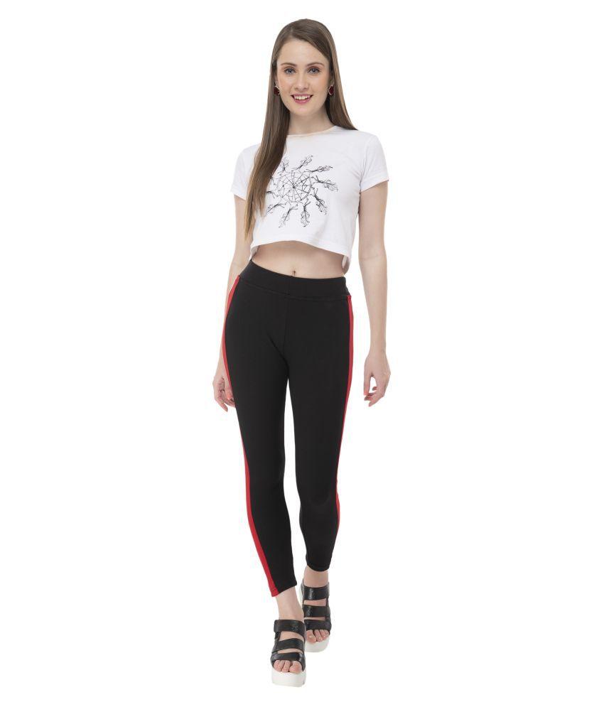 BeF Fashion Cotton Lycra Tights - Black