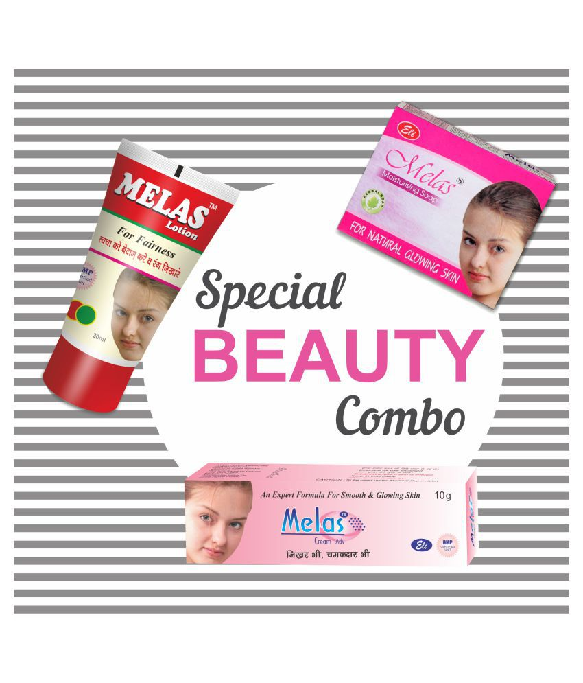 Melas Special Beauty Combo Night Cream 10 g + 30 ml + 75 g gm Pack of 3