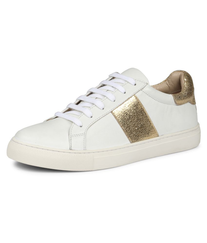 SAINT G Leather White Casual Shoes