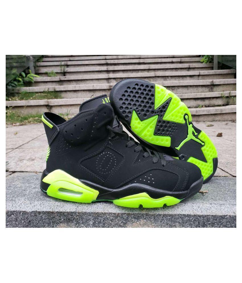 Nike JORDAN 6 BLACK NEON Green Basketball Shoes - Buy Nike JORDAN ...