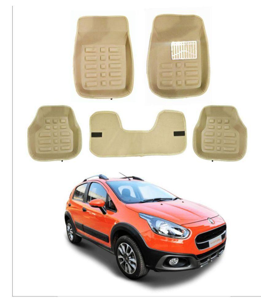 Trigcars Car Carpet Cream Car Floor/Foot Mats for Fiat Avventura