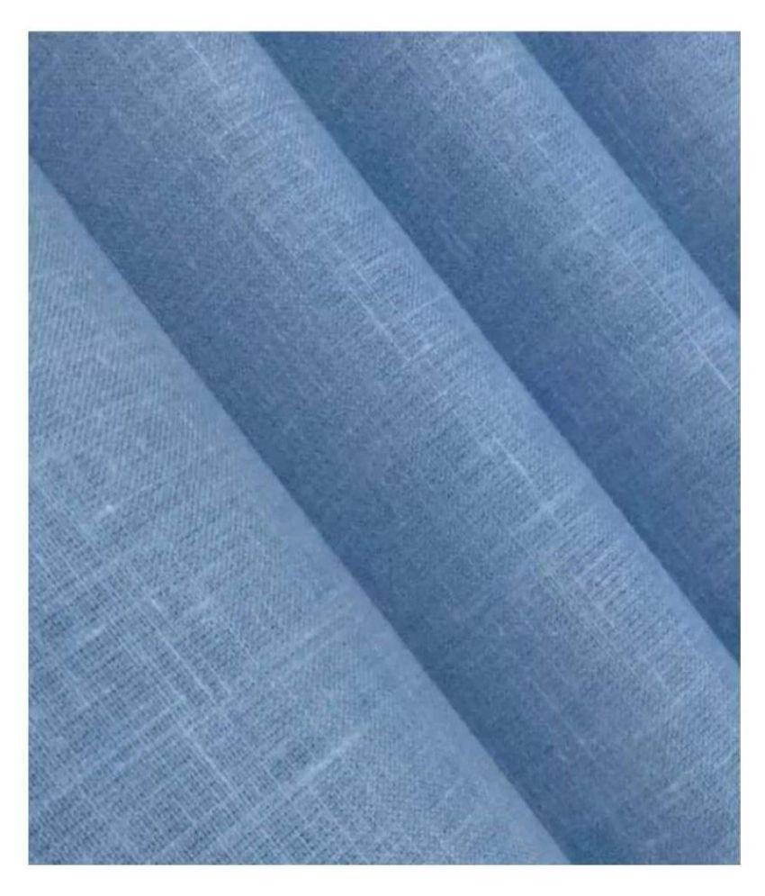 Siyaram Blue Cotton Blend Unstitched Shirt pc