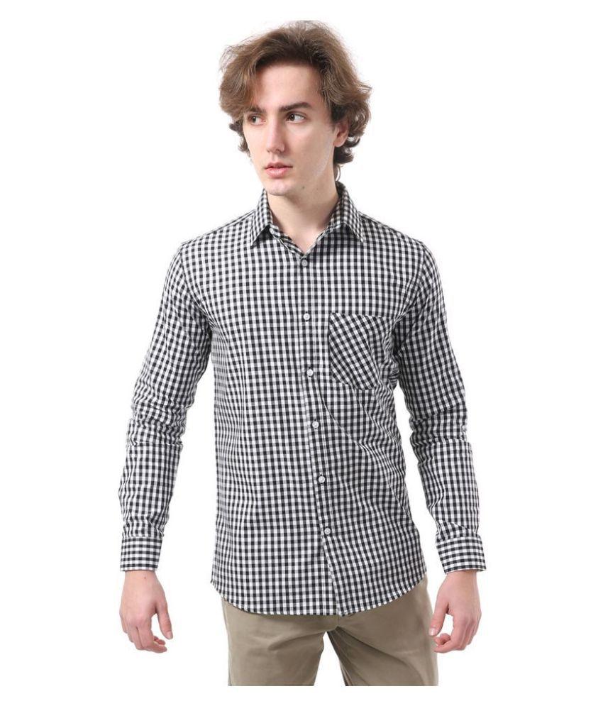 Vida Loca Cotton Blend Black Checks Shirt