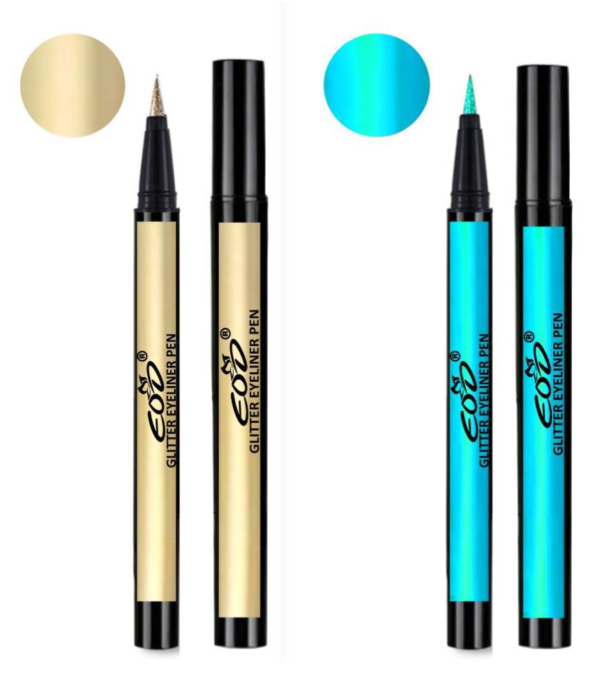 EOD Shimmer Long Lasting Pencils Liquid Eyeliner Green Pack of 2 2 mL