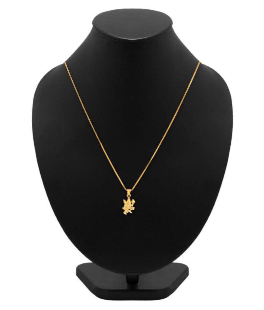 Jewar Mandi Hanuman Ji Gold Plated Designer Brass & Copper Chain Pendant