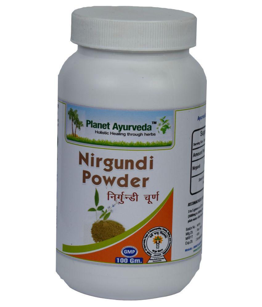 Planet Ayurveda Nirgundi Powder  Powder 100 gm Pack Of 2