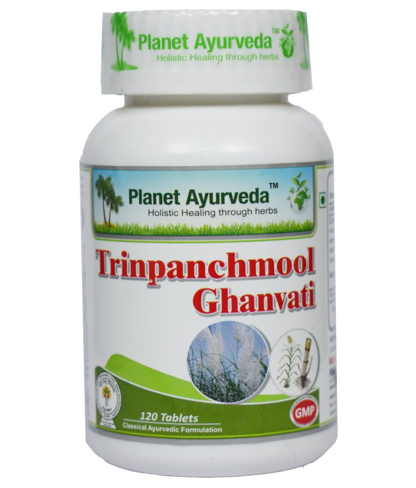 Planet Ayurveda Trinpanchmool Ghan Vati  Tablet 120 no.s Pack Of 2