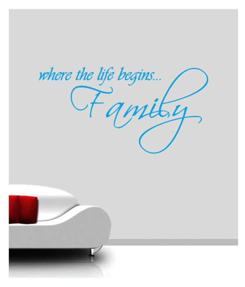 Ritzy Family Begins Wall Quotes Decal Motivational Quotes Sticker 60 x 30 cms