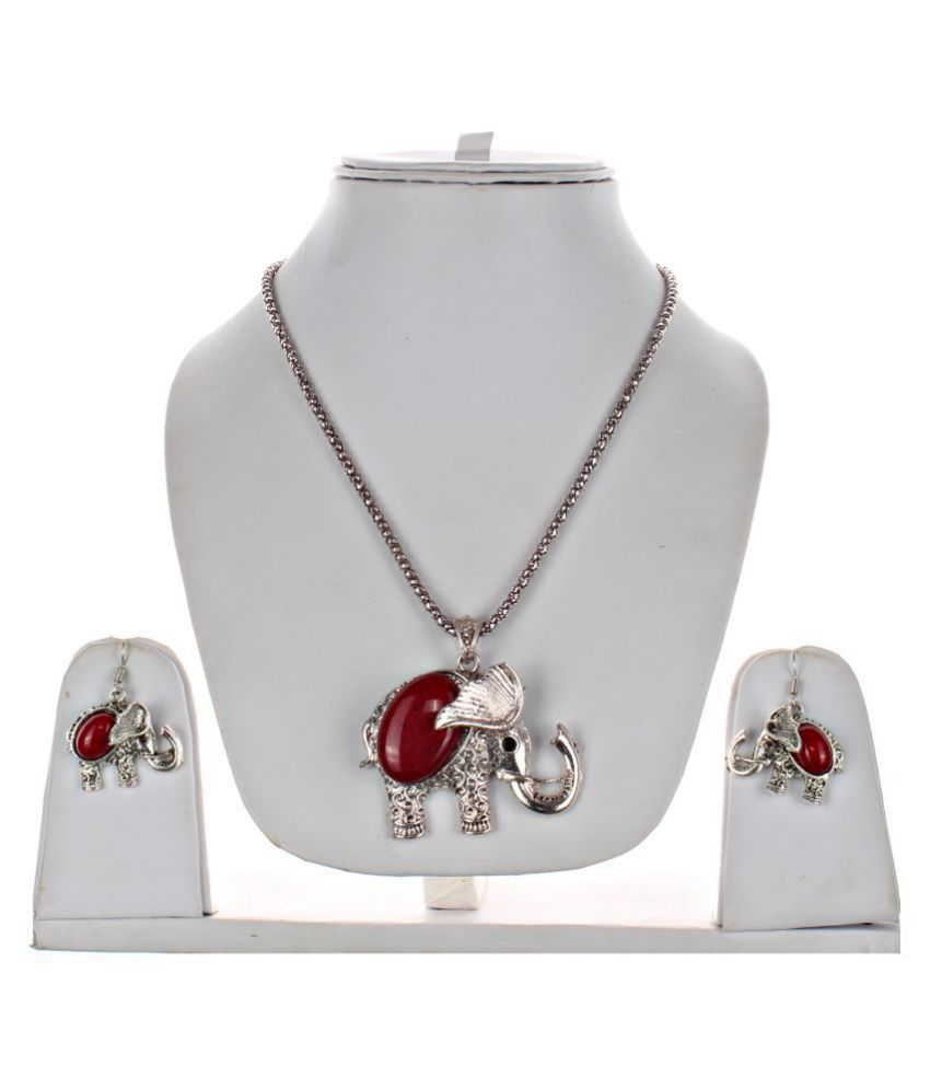 LUCKY JEWELLERY Alloy Red Contemporary/Fashion Oxidised