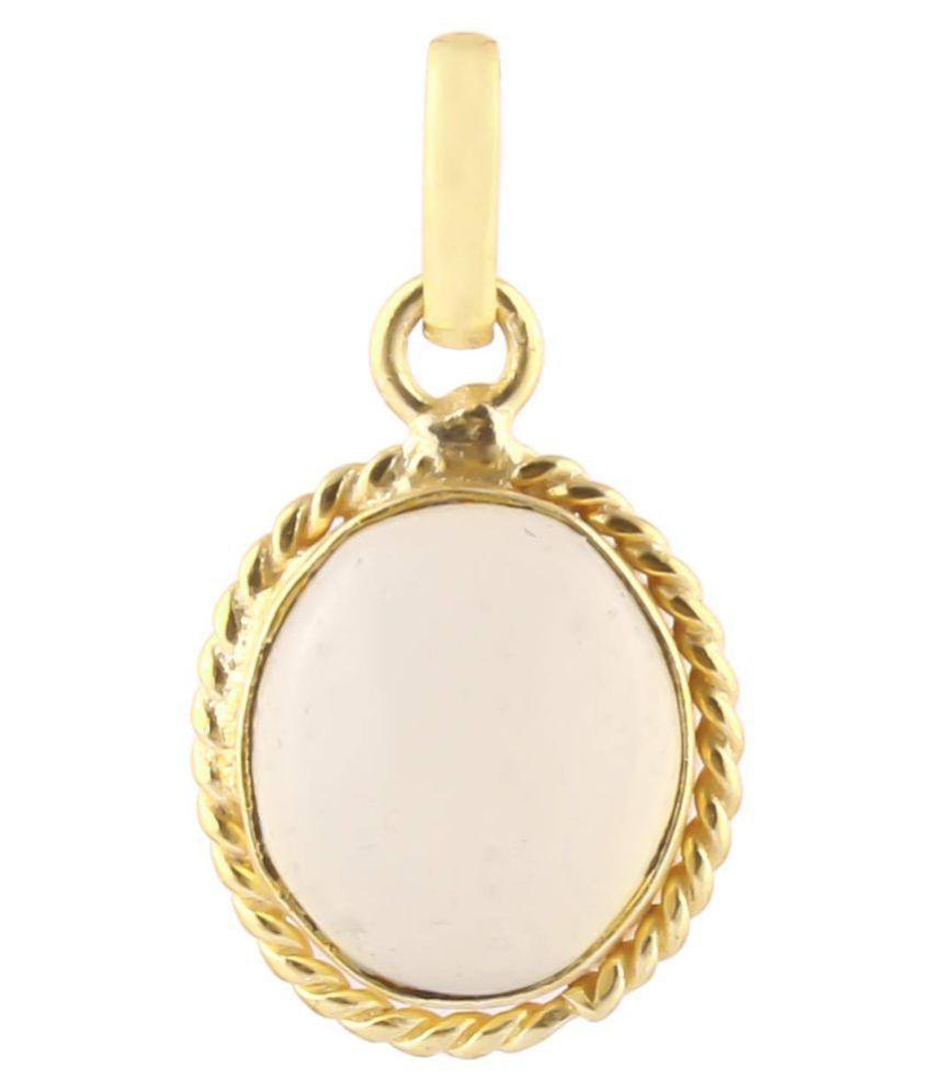 Swasti Retail 7.25 Ratti Multicolour Shell Opal Stone Rashi Ratna Panchdhatu Pendant Opal Precious Gemstone Locket for Men and Women