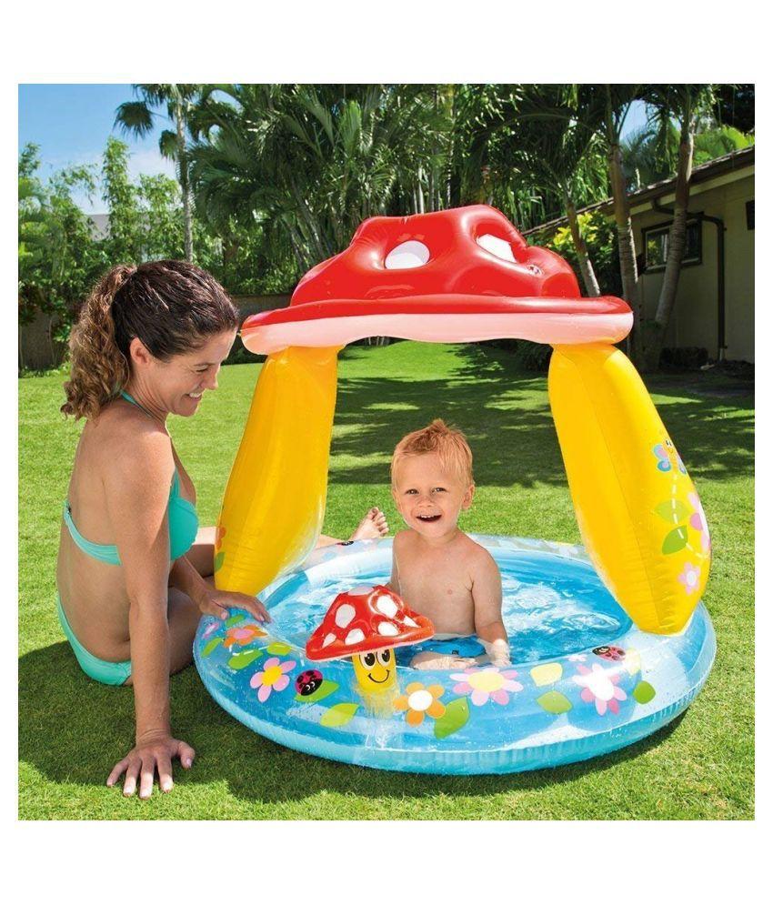 YATRI ENTERPRISE INTEX MUSHROOM SUNSHADE INFLATABLE BABY POOL