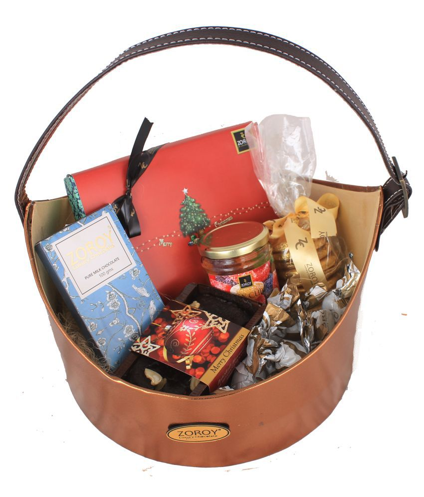 Zoroy Luxury Chocolate Assorted Basket The Christmas Prestige Hamper 2000 gm