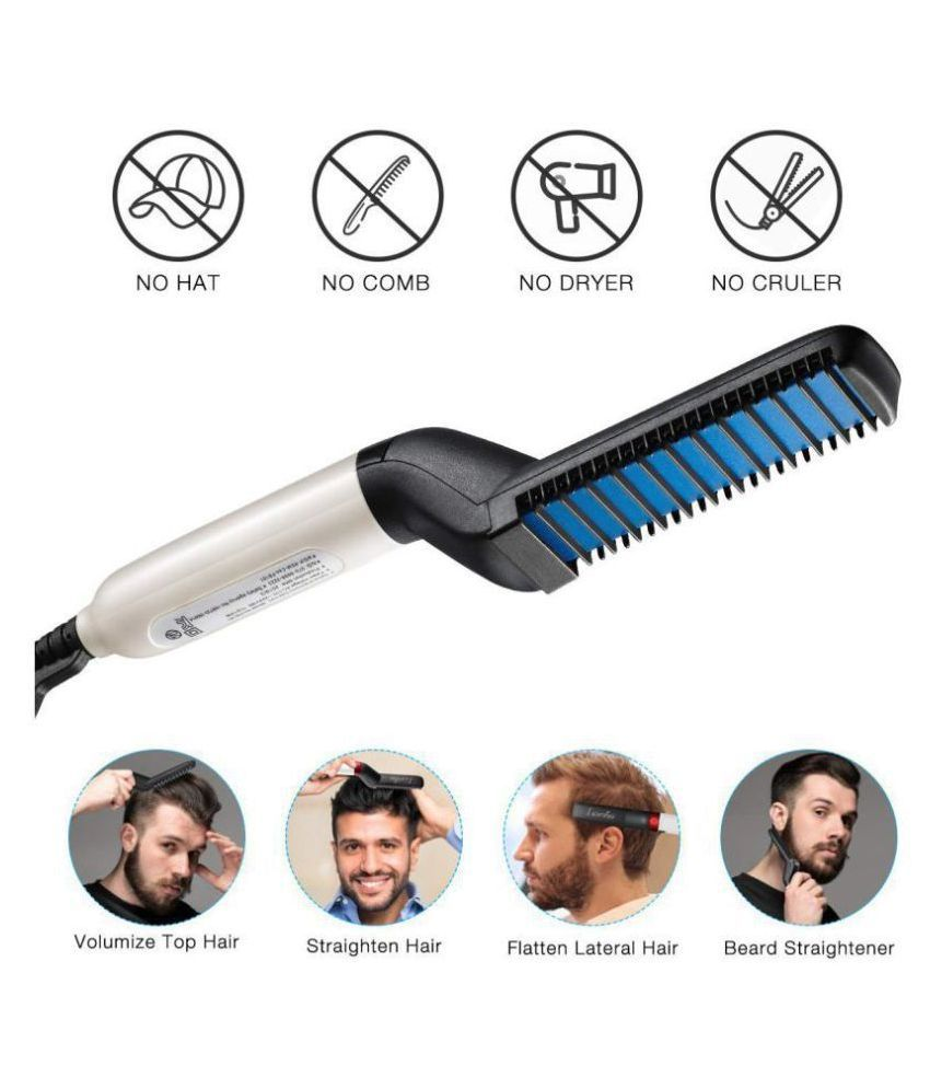 woniry Beard Modelling Comb Hair Straightener ( black )