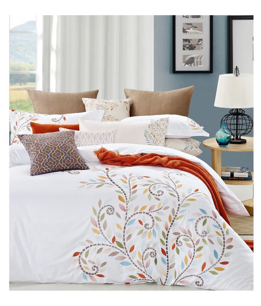 Maishaa Cotton King Size Bed Sheet With 2 Pillow Covers