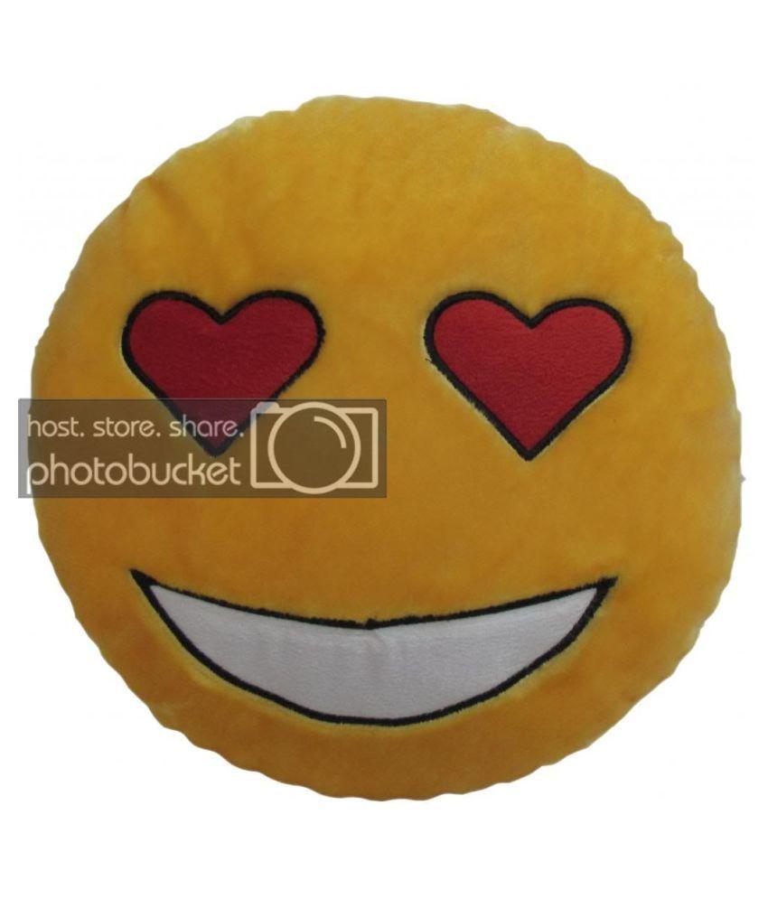 Tickles Stuffed Soft LOVE Stuck Smiley Cushion Toy Pillow Car 33 cm