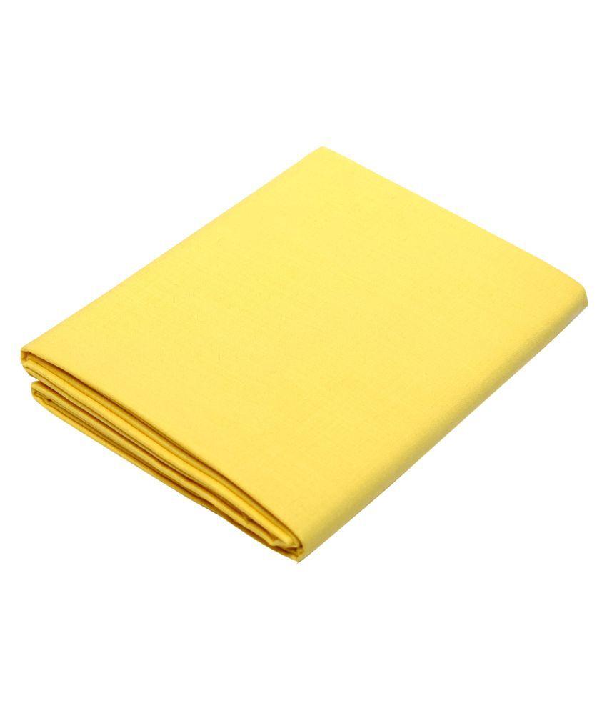 KUNDAN SULZ GWALIOR Yellow Cotton Blend Unstitched Shirt pc