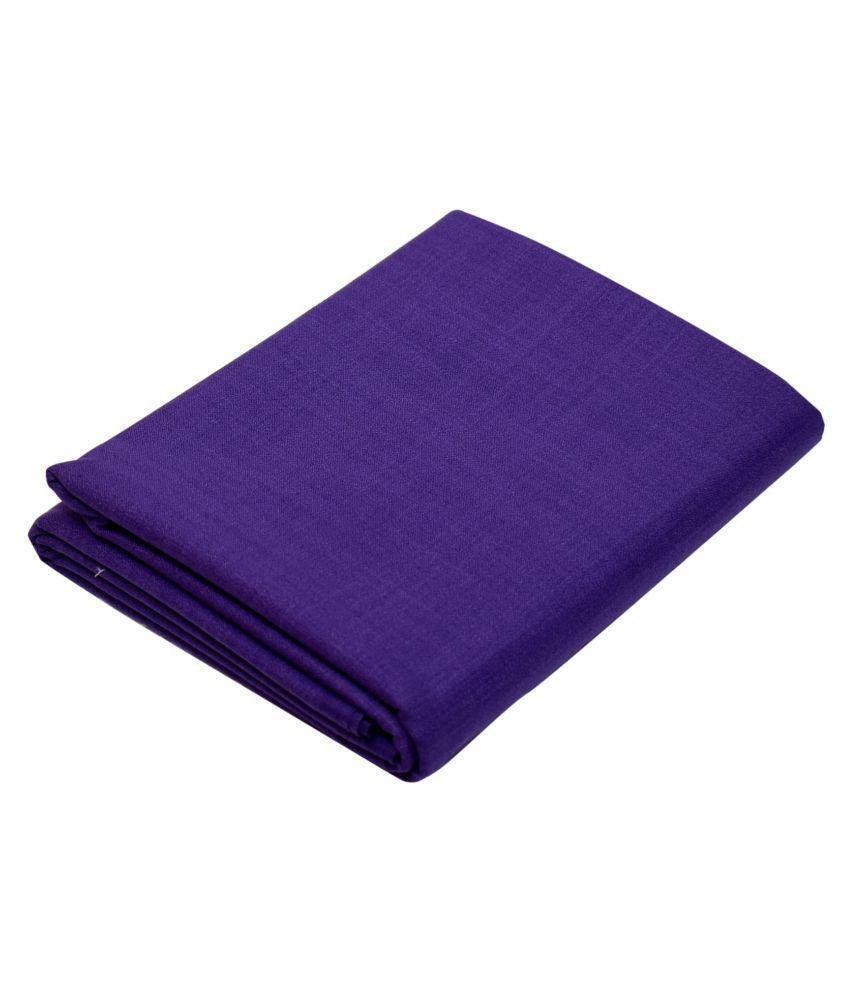 KUNDAN SUZ GWALIOR Blue Cotton Blend Unstitched Shirt pc