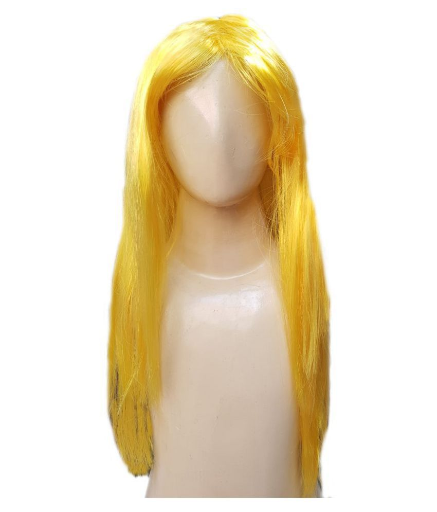 Kaku Fancy Dresses  Ladies Girl straight styler Yellow Color Hair Wig For Kids Festival/Annual function/Theme Party/Competition/Stage Shows/Birthday Party Dress