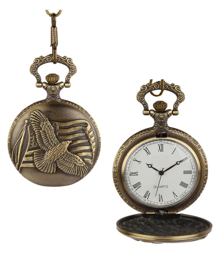 Dice Round Analog Pocket Watch Chain