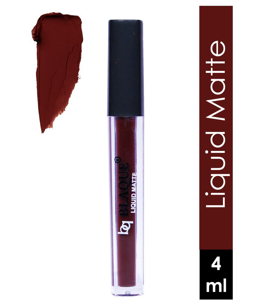 bq BLAQUE Longlasting Matte Lipstick Lip Gloss Liquid Chocolate 4 mL