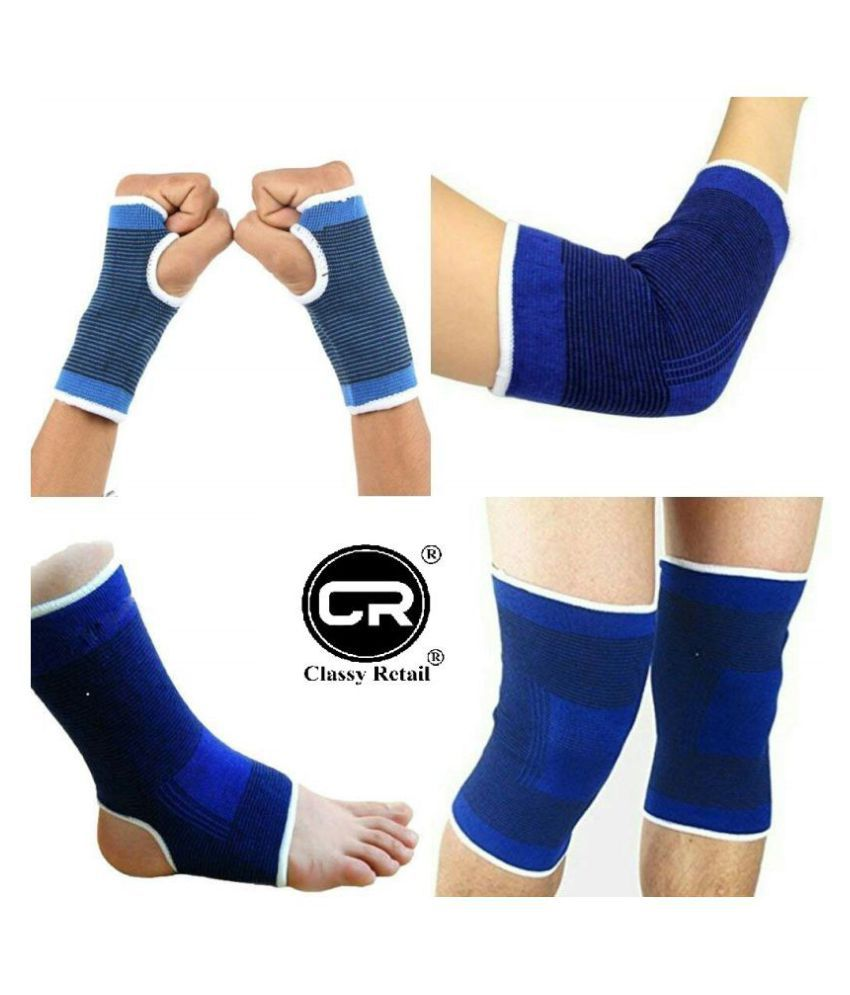 classy retail ® Set of Ankle, Palm, Knee, Elbow Support, Gym Support