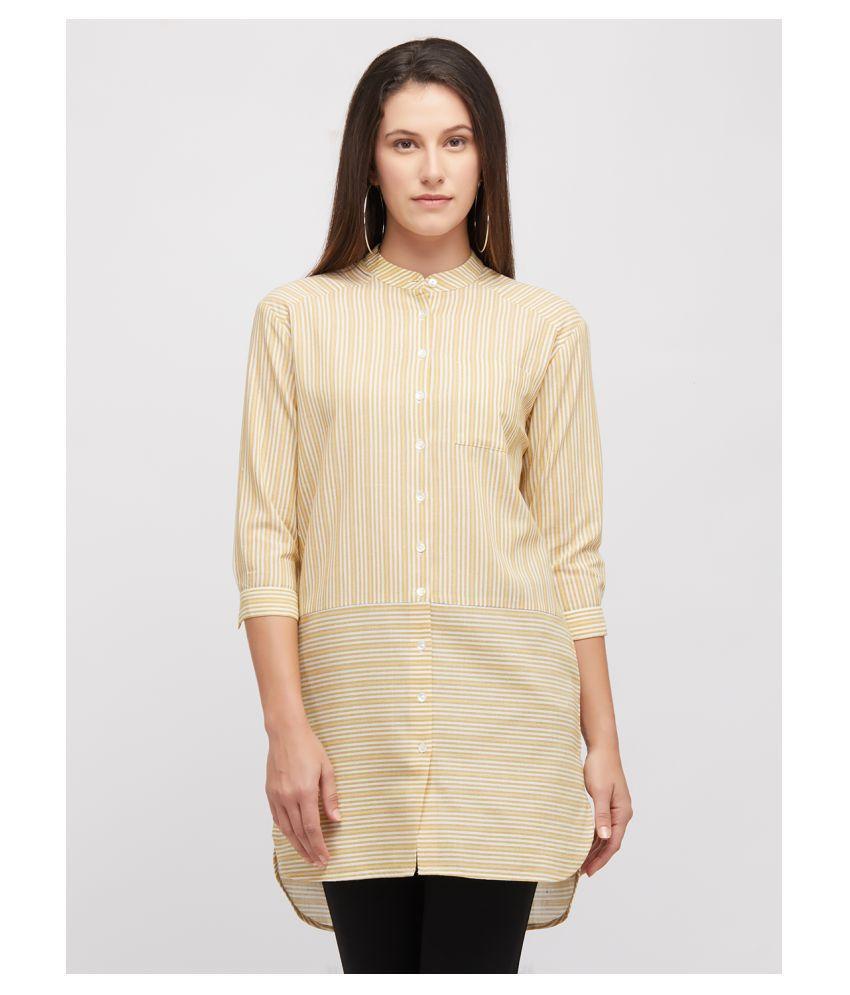 109 F Yellow Cotton Shirt
