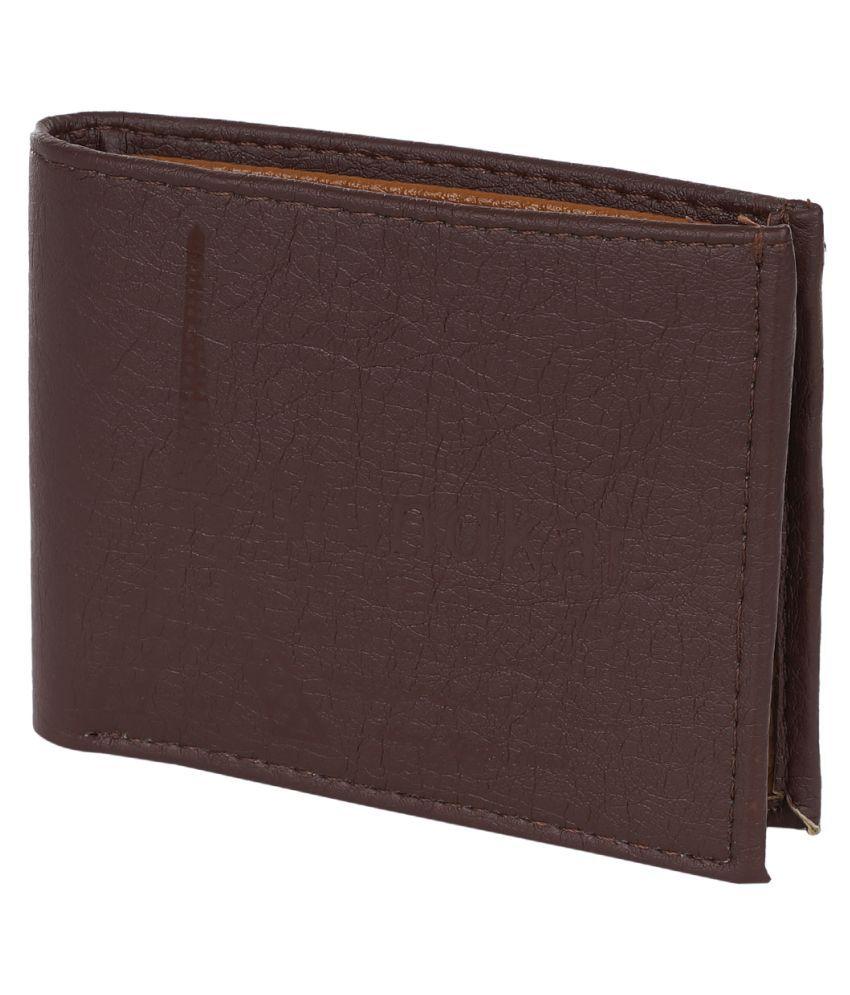 FERRET PU Brown Casual Regular Wallet