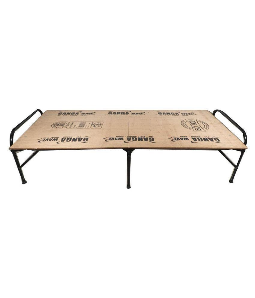 ponperi Single Size Folding Bed | Iron Folding Bed | Wood ...