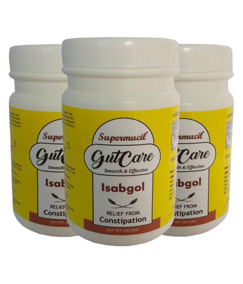 SUPERMUCIL GutCare: Psyllium (Isabgol) with Amla Powder 100 gm Pack of 3
