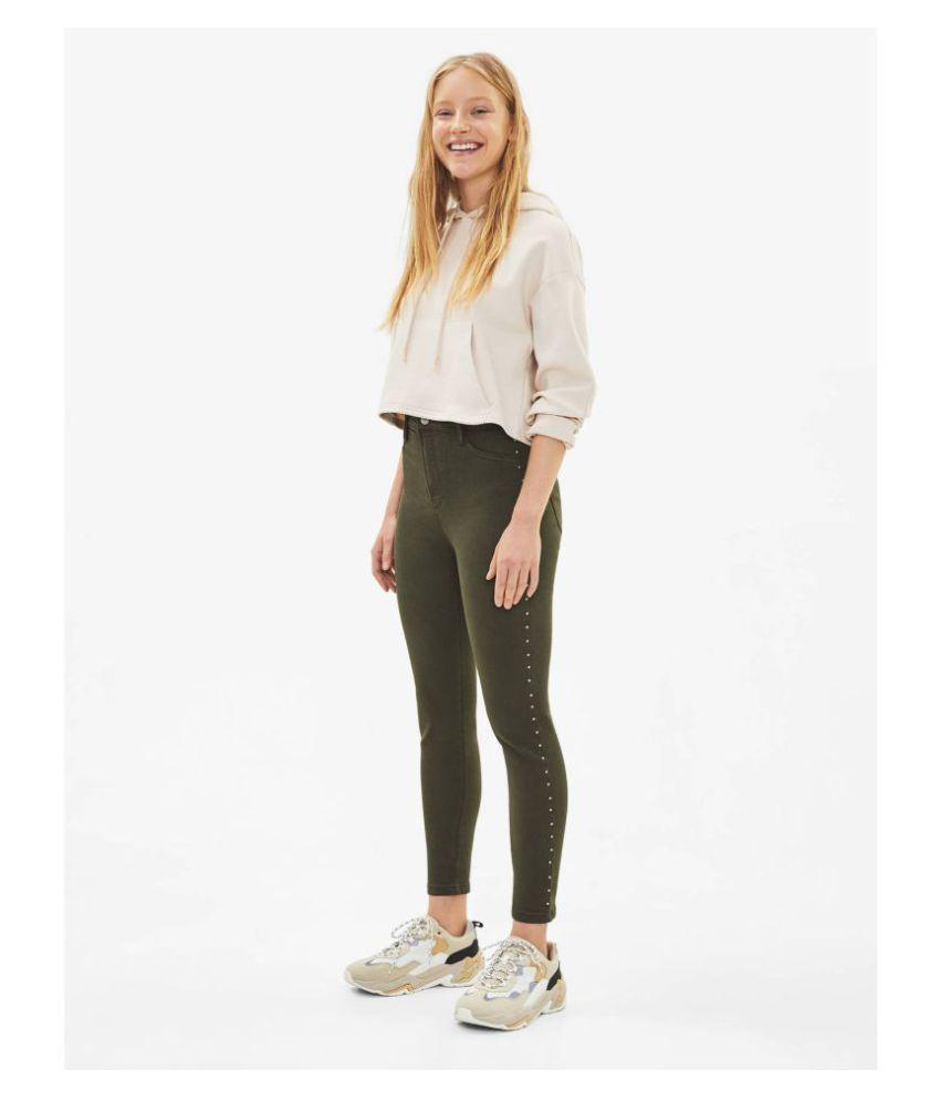 Malachi Denim Lycra Jeans - Khaki