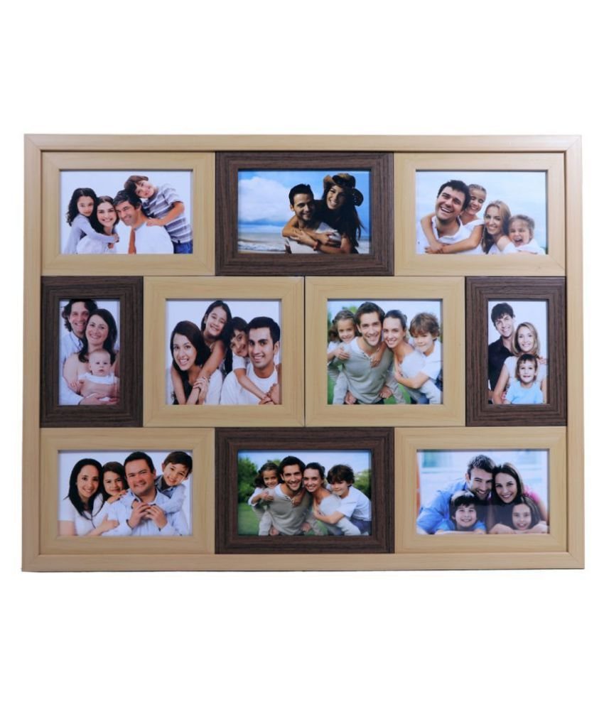 Art Affair Wood Wall Hanging Multicolour Collage Photo Frame - Pack of 1