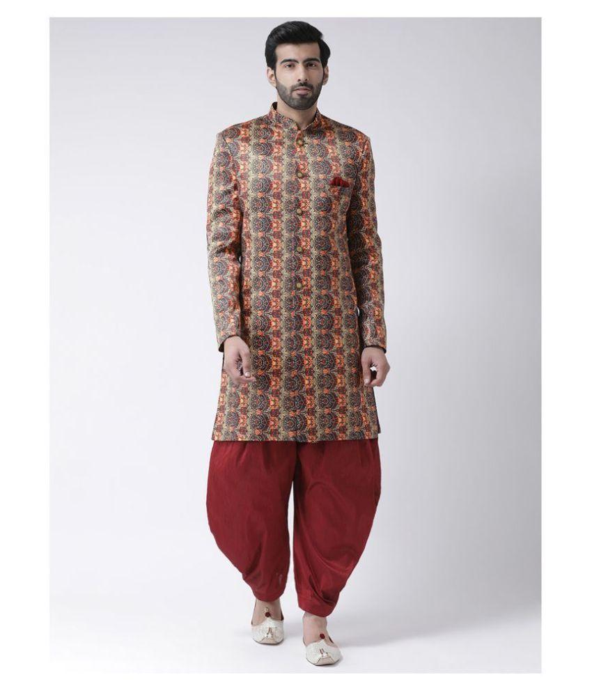 Hangup Multi Polyester Blend Sherwani