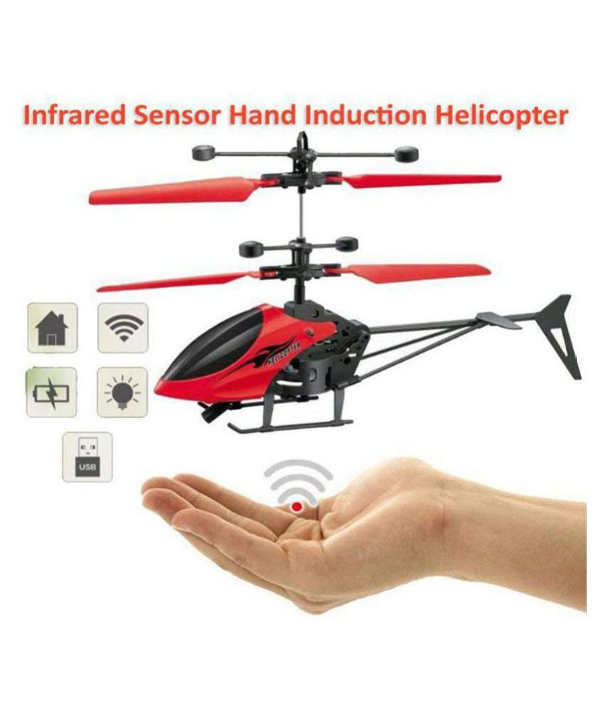 ST.MARRY'S GIFT (™)TOY Hand Induction Control Flying Helicopter with Infrared Sensor, USB Charger and Flashing Light (Color May Vary)