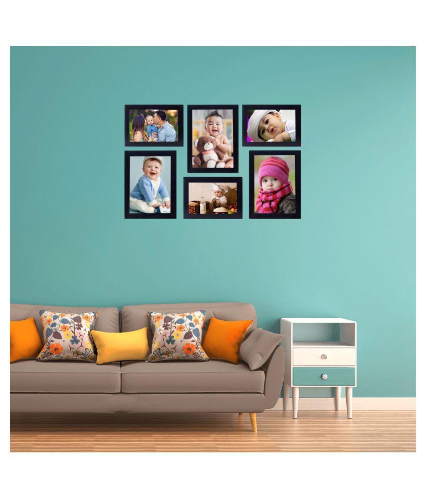 Art gifts solutions MDF Black Photo Frame Sets - Pack of 6