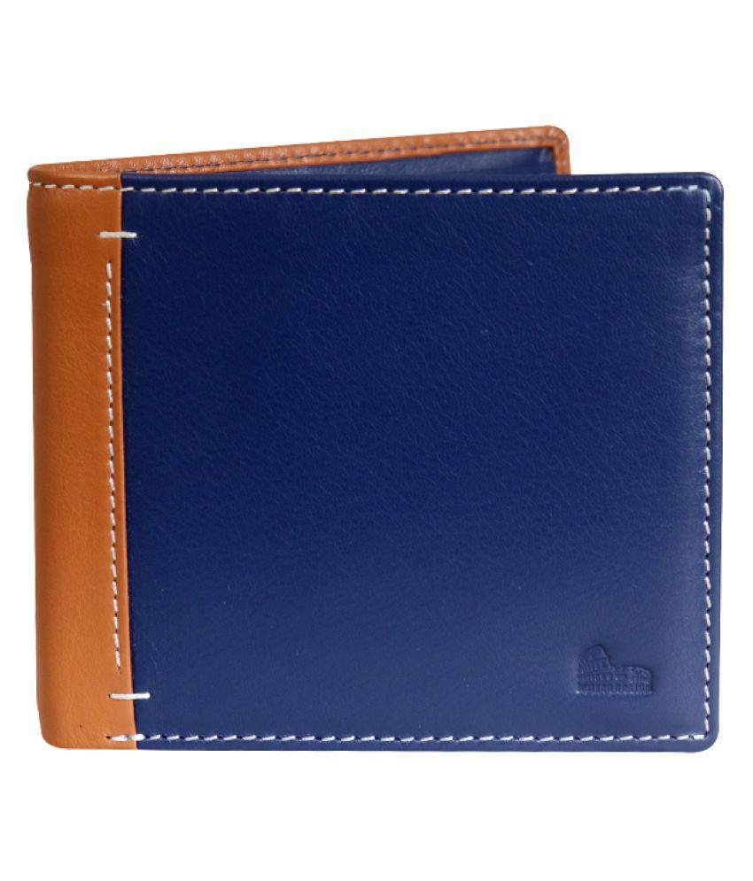 La Roma Leather Blue Casual Regular Wallet