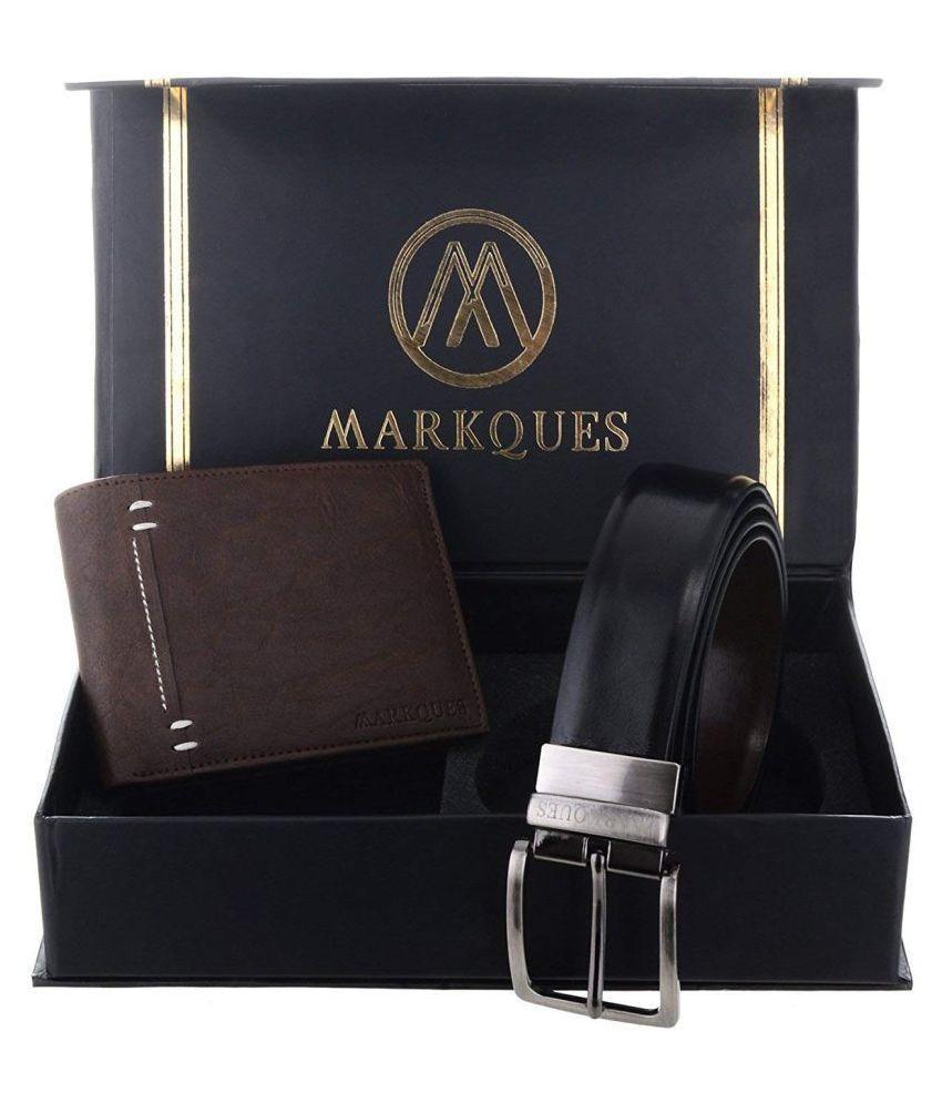 MARKQUES Belts Wallets Set