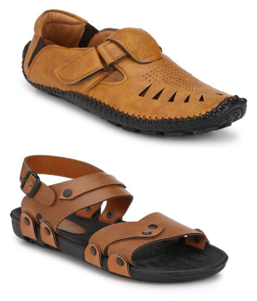 Fentacia Tan Sandal Combo