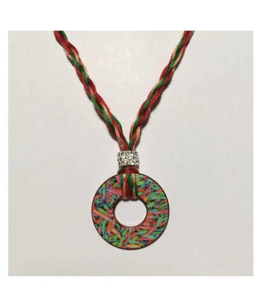 Multicolor Washer Pendant Necklaces