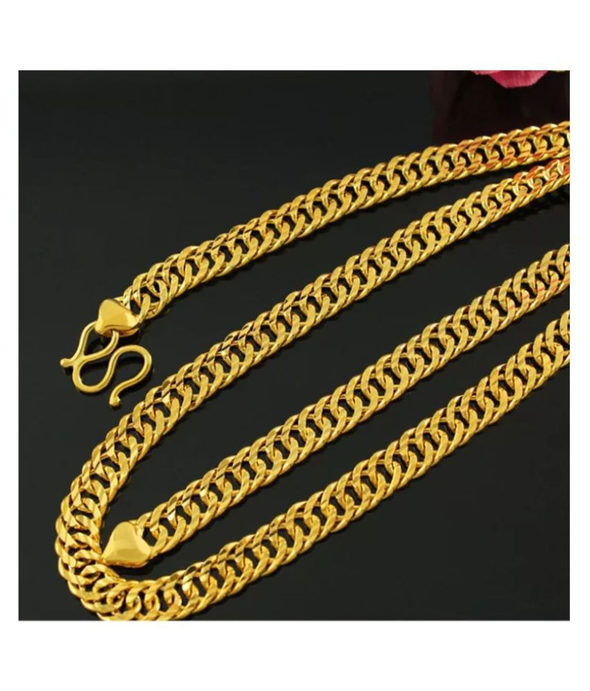 Designer & Stylish Gold Plated Chain for Men &  Boys with length of 21 inches