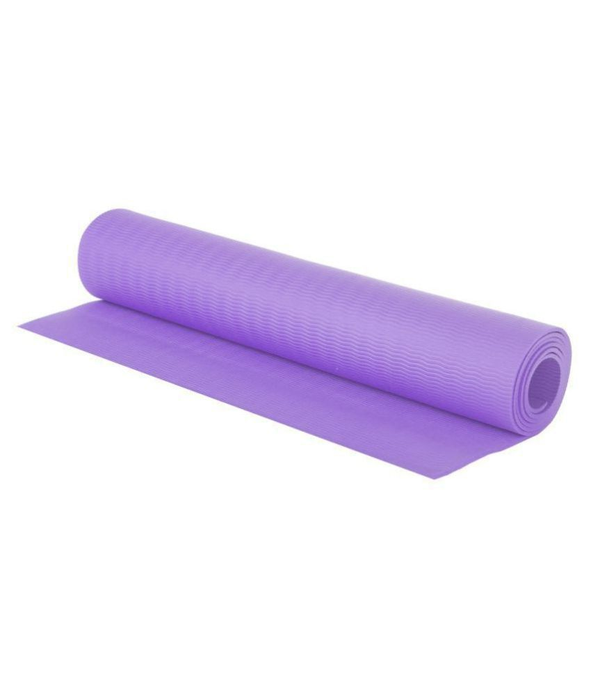 ROMEE Non Slip Yoga Mats, Gym & Exercise with Carry Bag  (5 MM) - Purple