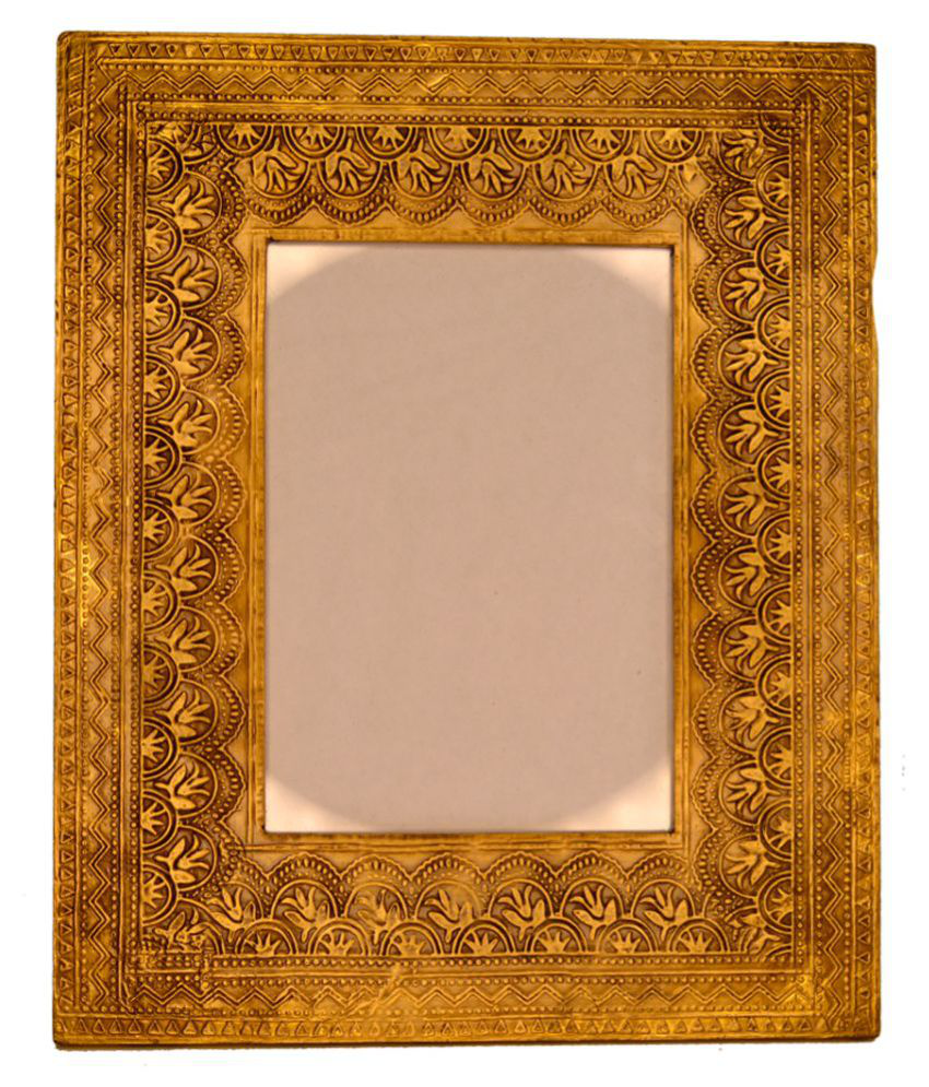 Santarms Wood TableTop Gold Single Photo Frame - Pack of 1