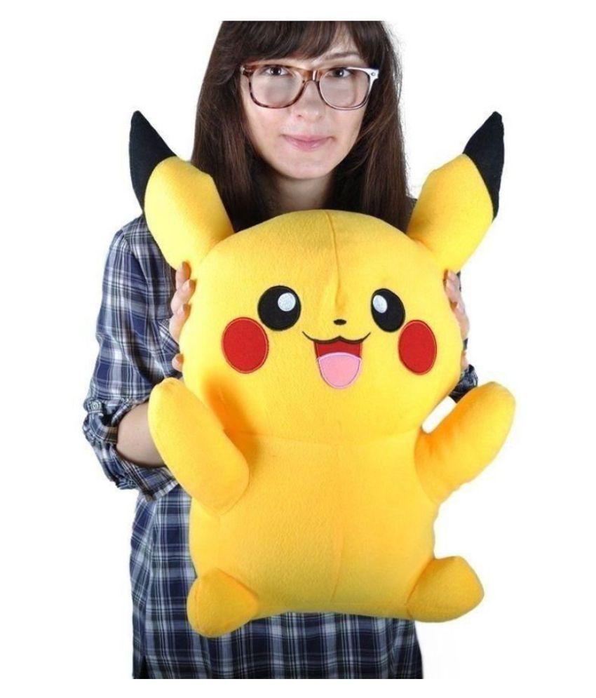 Tickles Yellow Pikachu Plush Soft Doll Pokemon Toy 35 cm