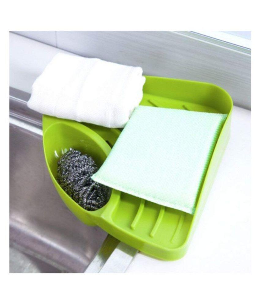Creative Useful Multipurpose Must Have Corner Sink Wash Basin Storage Organizer Rack