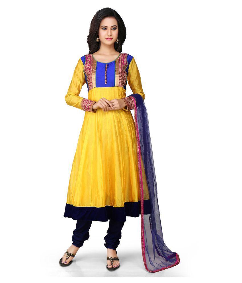 THEBLINGCLOSET Silk Single Salwar With Dupatta
