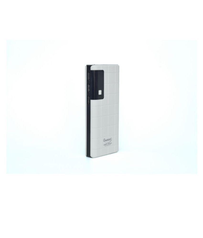 Quantum Hi Tech Fastcharging 12500  mAh Li Ion Power Bank White