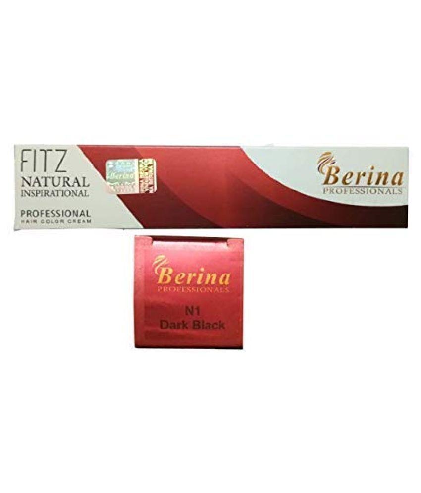 Berina Dark Black Hair color (BER-009) Permanent Hair Color Black 2 g