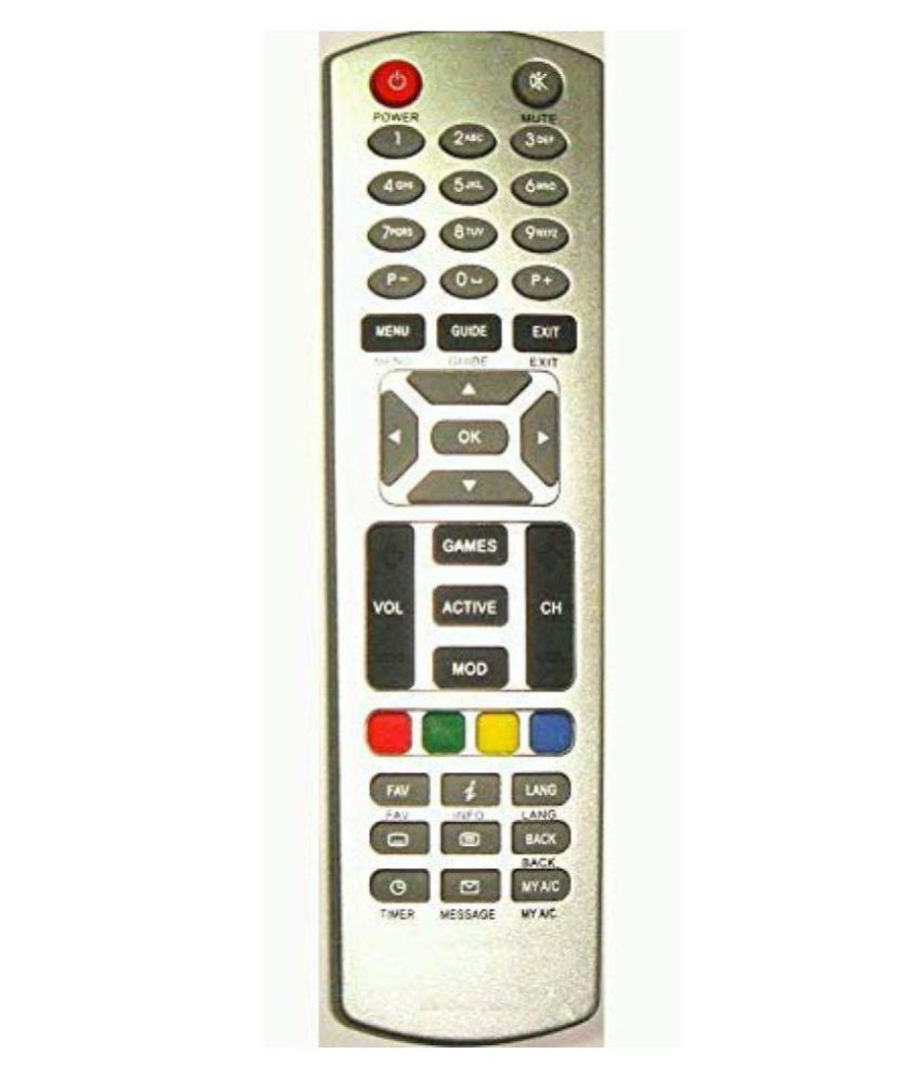 EHOP Zenega 4 DTH Remote Compatible with   Dish TV