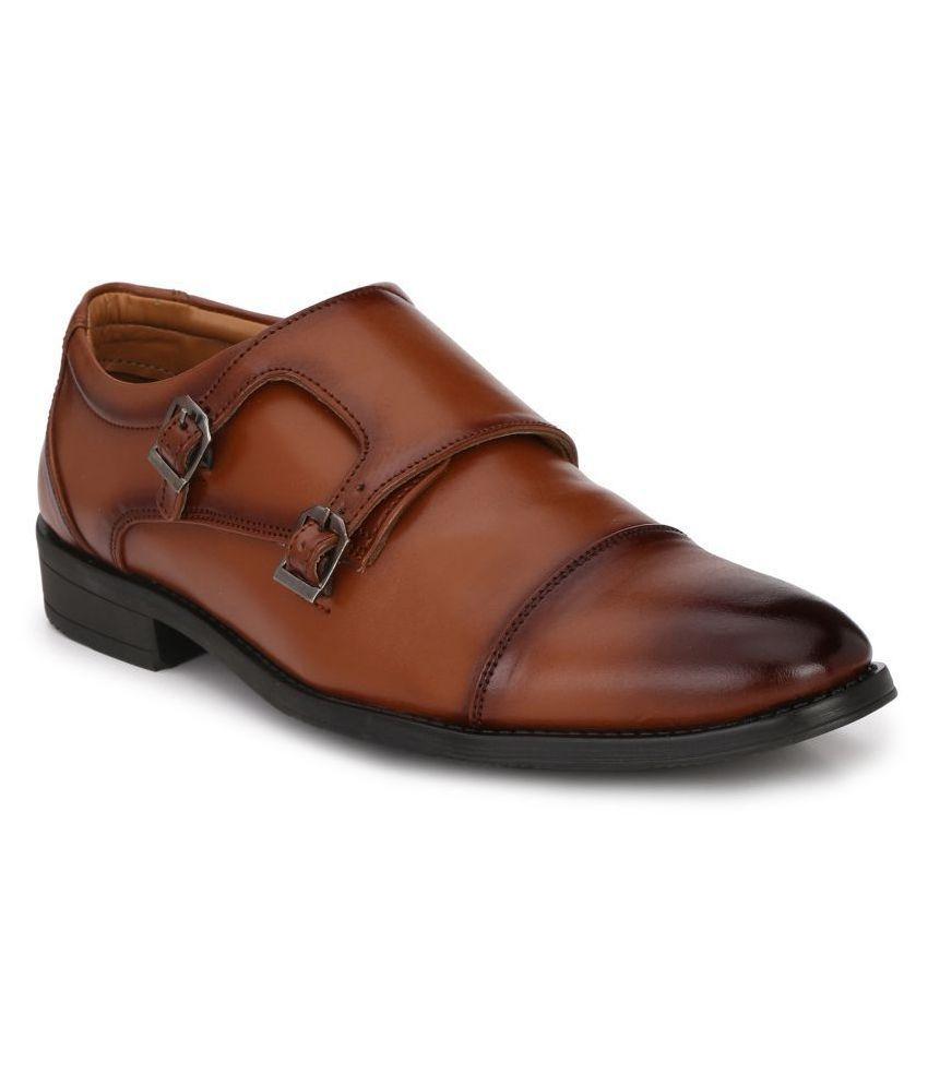Prolific Monk Strap Tan Formal Shoes